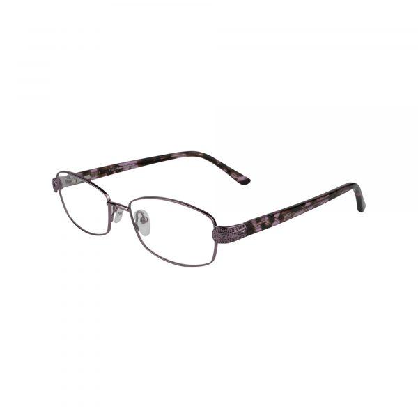 Fleur De Lis Purple L132 - Eyeglasses - Left