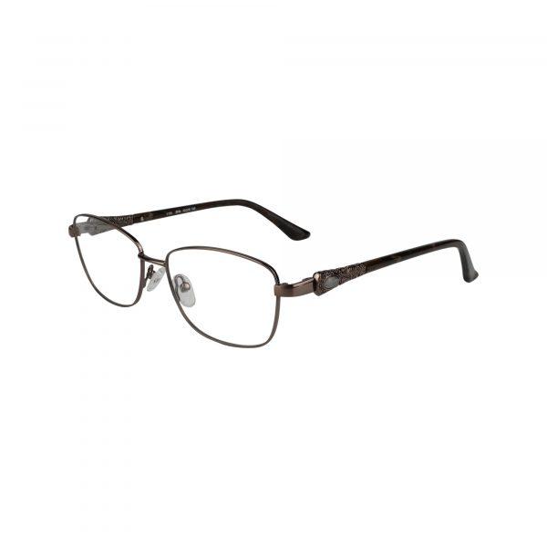 Fleur De Lis Brown L124 - Eyeglasses - Left