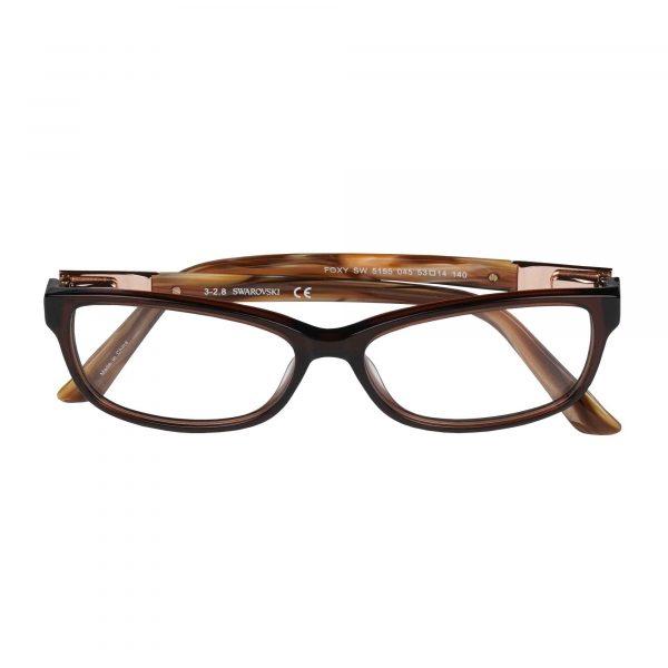 Swarovski Light Brown 5155 - Eyeglasses - Folded