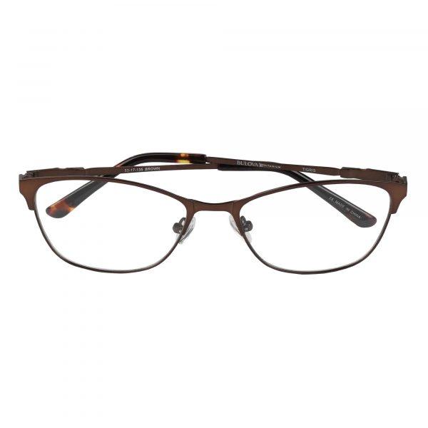 Bulova Brown Twist Tigris - Eyeglasses - Folded