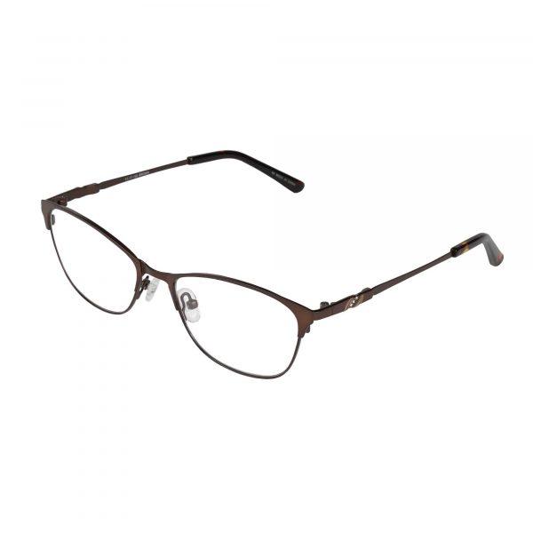 Bulova Brown Twist Tigris - Eyeglasses - Left