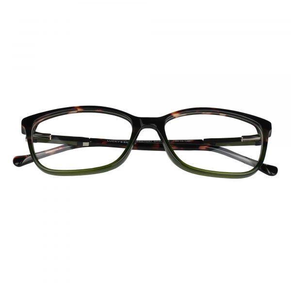 Lucky Green/Tortoise D225 - Eyeglasses - Folded