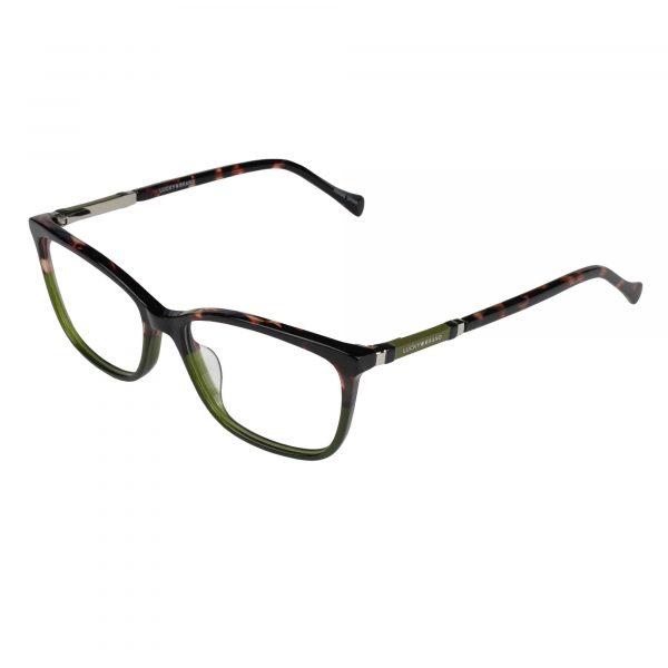 Lucky Green/Tortoise D225 - Eyeglasses - Left