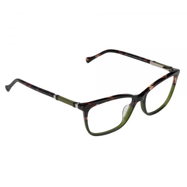 Lucky Green/Tortoise D225 - Eyeglasses - Right