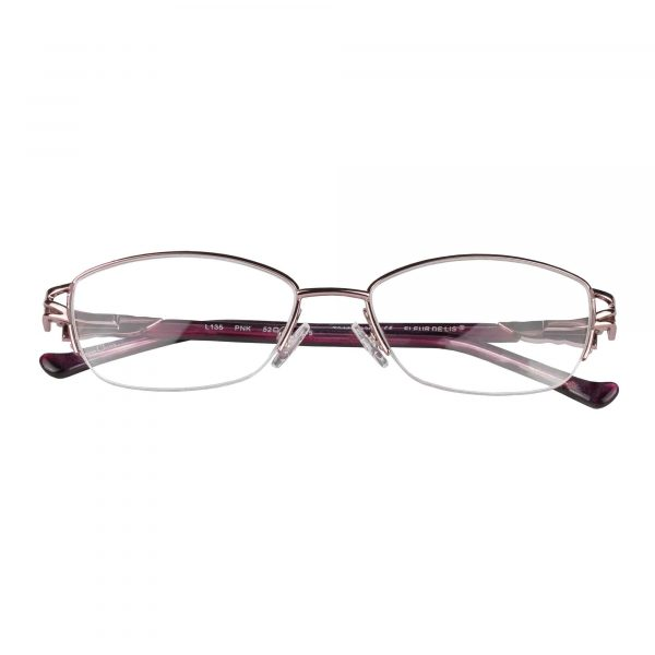 Fleur de Lis Pink L135 - Eyeglasses - Folded