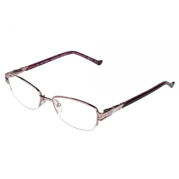 Fleur de Lis Pink L135 - Eyeglasses - Left