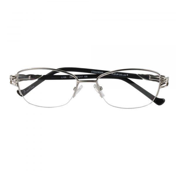 Fleur de Lis Silver L135 - Eyeglasses - Folded