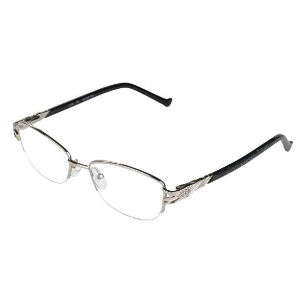 Fleur de Lis Silver L135 - Eyeglasses - Left