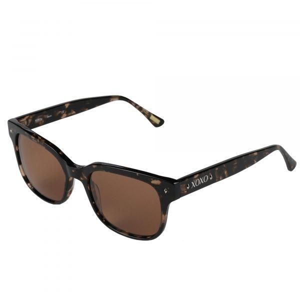 XOXO Brown Crystal Destin - Sunglasses - Left