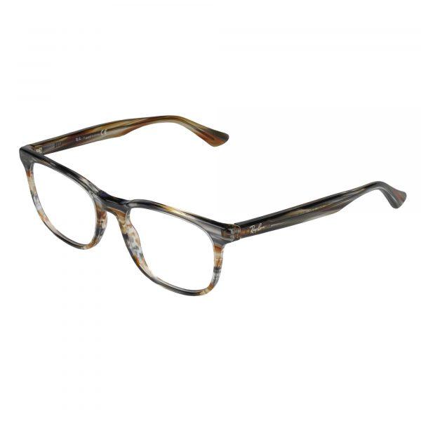 Ray-Ban Brown/Grey 5369 - Eyeglasses - Left