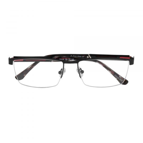Lascala Black L864 - Eyeglasses - Folded