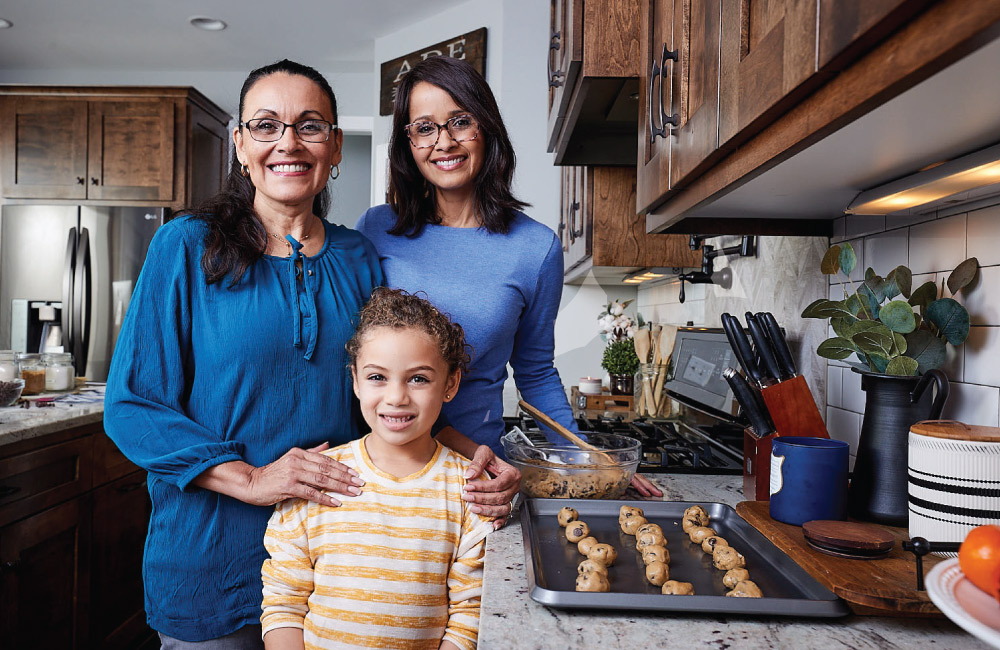 family making cookies - 40% off lenses with purchase of frames