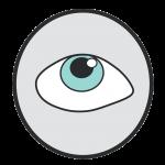 looking up eyeball