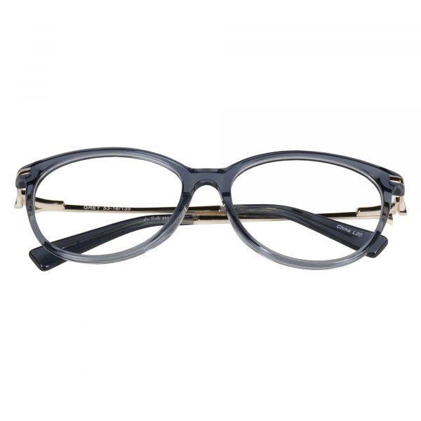 Lascala Gunmetal 483 - Eyeglasses - Folded