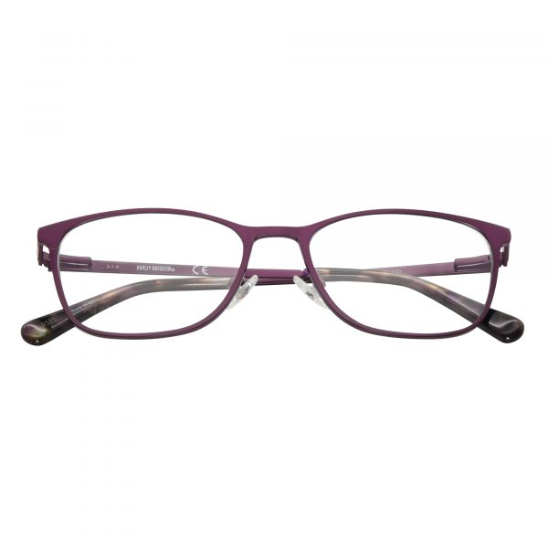Harley Davidson Purple 552 - Eyeglasses - Folded